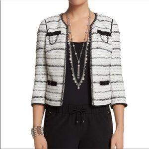 WHBM Novelty Tweed Jacket NWT